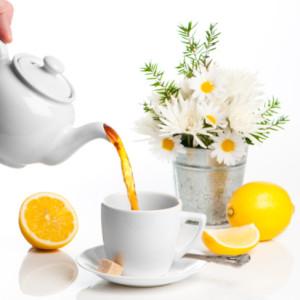 Pouring Lemon Tea